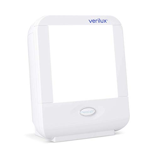Verilux HappyLight VT10 Compact Personal, Portable Bright White Light 10,000 Lux Therapy Lamp with 20 sq. in. Lens Size