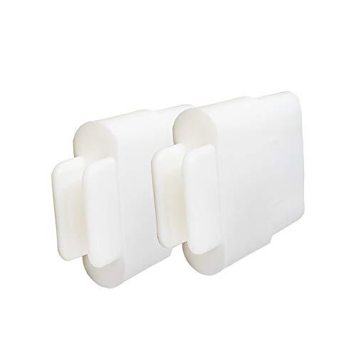 DIWARO® 2er Set Endstabgleiter | Größe 35mm x 14mm | Farbe weiß | Material Kunststoff | für Endleiste, Endschiene, Winkelendschiene | Rolladenpanzer, Jalousie, Rollo