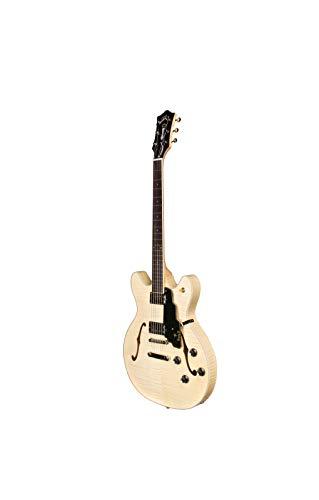Guild Guitars 6 cuerdas guitarra eléctrica, ambidiestro, arce flameado natural (Guild Starfire IV ST (N))