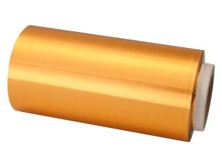 Papel de Aluminio Para Mechas Uso Profesional Con Dispensador 12cm x 70 Mts (ORO)