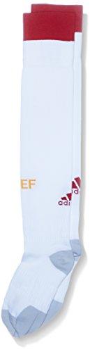 adidas AA0806 Medias para hombres, Blanco/Rojo, 34-36 EU (Talla del Fabricante: 1)