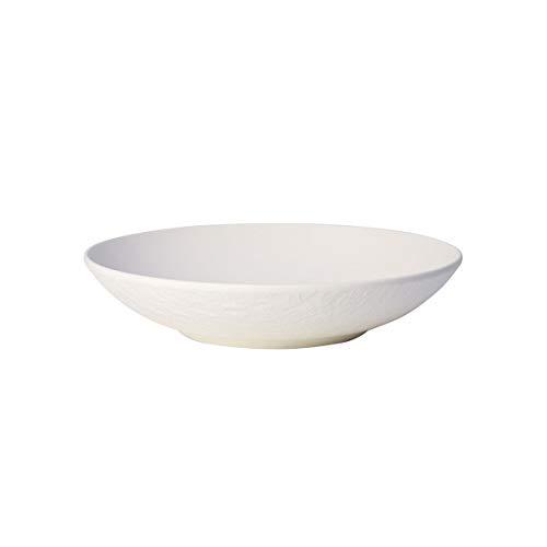Villeroy & Boch - Manufacture Rock Weiß Schale, 6 Stück, 23,5 cm, Premium Porzellan, Weiß, 10-4240-2536-6