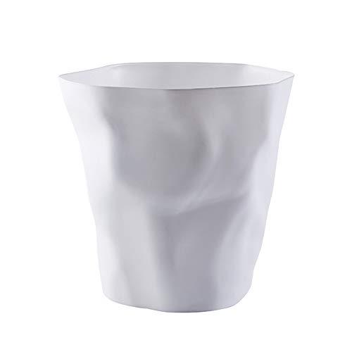 Chytaii Papelera de Oficina Cocina Habitación Baño Sin Cubierta Cubo de Almacenamiento Cubo de Basura Contenedores de Hogar Multiuso Plástico Portátil Diseño Plisado Moda 25 * 16 * 24.5CM