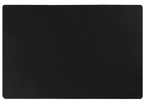 "KimTin 23.62"" by 15.75"" Extra Large Mulitpurpose Silicone Placemat,Countertop Protector, Kitchen Counter Mat, Table Mat, Heat Resistant, Washable, Non Slip (Black)"