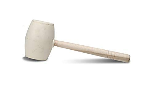 Rubi 65914 Maza de goma, Blanco, 750 g