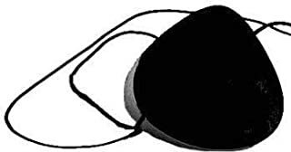 Eye Patch Black Ophthalmic Injury Vinyl Adult Large Concave
