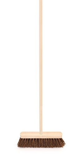 Outdoor Sweeping Brush with Handle 10' Stiff Wooden Bassine Yard Broom by The Dustpan and Brush S