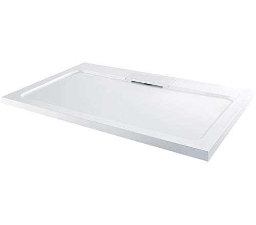 Elton Low Profile Stone Resin Acrylic with Hidden Waste Shower Tray- Rectangle 1200 x 800
