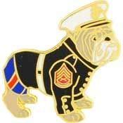 USMC, Bulldog Dressed - Premium Quality, Expertly Designed, PIN - 1.0625'