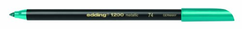 Edding 1200 - Paquete de 10 rotuladores, color verde metaliz