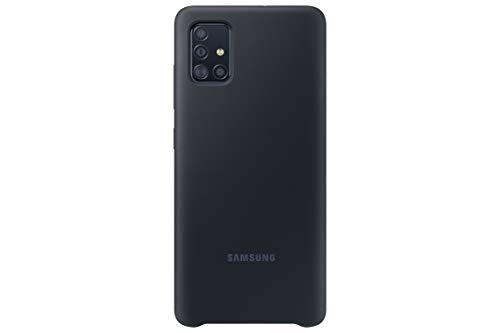 Samsung A51 - Carcasa de silicona, color Negro