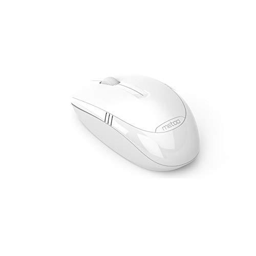 GJMA draadloze muis, 2.4G draadloze draagbare mobiele computermuis, 1600 DPI USB-ontvanger, automatisch slaapontwerp, Large, Kleur: wit