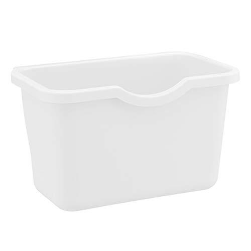 ToPBATHY Poubelle à suspendre pour le recyclage des déchets 21 x 13.5 x 12.5cm blanc