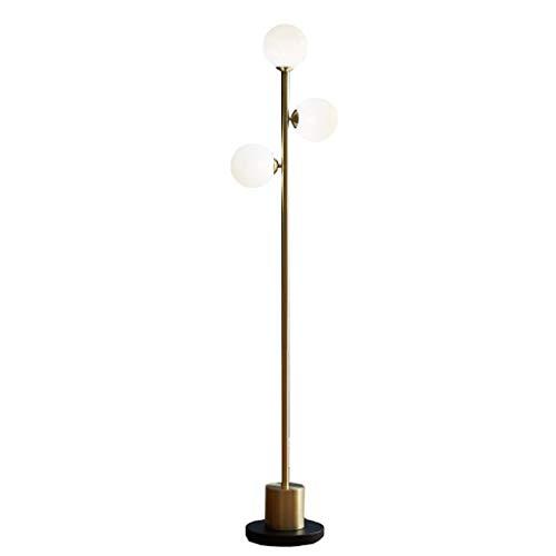 WECDS  Lámparas de pie Lámpara de pie Creativa Simple Sala de Estar Dormitorio Estudio de cabecera Lámpara de Mesa Vertical Interruptor de pie -9W Luz cálida LED Luz de pie Interior