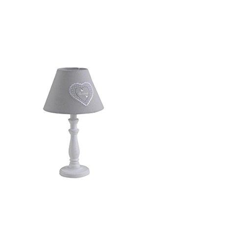 Lampe en bois coeur gris AUBRY GASPARD NLA2120