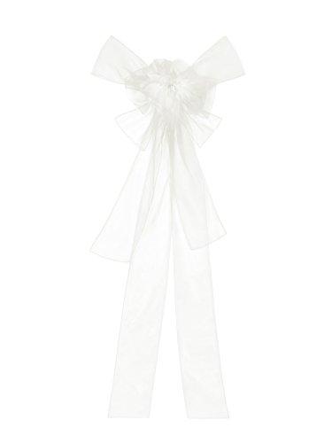 ivory Organza Schleife (dunkles weiß) Organzatraum als große und elegante Geschenkschleife