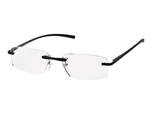 Randlose Lesebrille - rahmenlose Lesebrille +1.0 1.5 2 2.5 3 3.5 - randlose Brille für Herren Damen, schlanke Fertigleser, ohne Rahmen, aus Titan - Qualität, leicht, ohne Rand