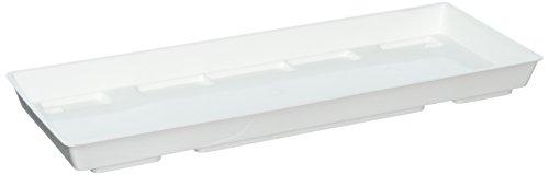 Ebert Blumenkasten Untersetzer, weiß, 40 x 15 x 3 cm, 1002743