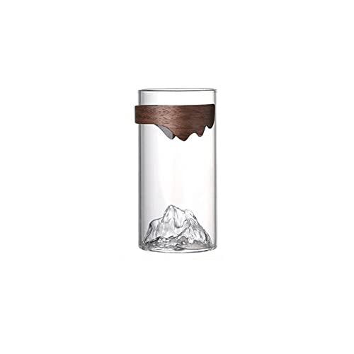 Dabeigouzbolb Glaser Kaffee-Tee-Gläser, Trinkgläser für Büro, Kaffeeglas in der Gebirgsform-12 oz