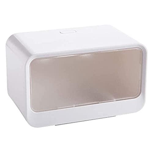 GDYJP Tenedor de Rollo de Inodoro, Caja de Papel a Prueba de Agua Portapelo de Papel higiénico de plástico Caja de Almacenamiento de Tubo de Papel de Rollo de Papel de baño