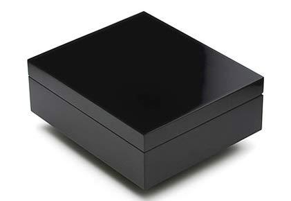 ADORINI Humidor Torino - Deluxe in schwarz | hoch-präziser Haar-Hygrometer zur Lagerung von 30 Zigarren | Zigarren-Kiste zur Regulierung der Feuchtigkeit