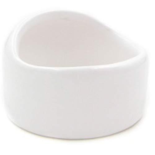 ハムスター 餌入れ えさ皿 小動物 ペット 陶器 セラミック モルモット モモンガ ホワイト