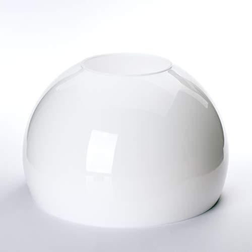 Demi-sphère en verre de rechange 25 cm 250 mm verre abat-jour 10 cm 100 mm blanc opale