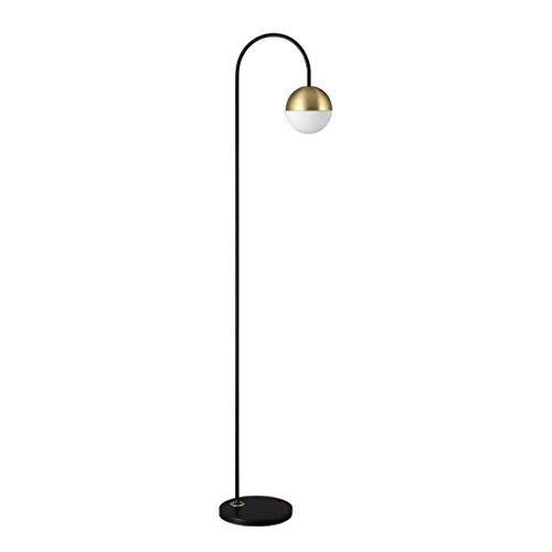 DAGCOT Lámparas de pie Lámparas de luz vertical bola de cristal de baja Lamp Post Nordic Estilo Moderno Habitación Sala Modelo Pantalla LED Creativa Salón Lámpara de pie Lámparas permanente luces de i