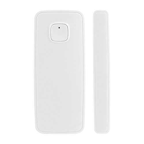 KKmoon Sensores de Puerta WiFi Inteligente Tuya, Compatible con Alexa Google Home, Función de Registro de Historial
