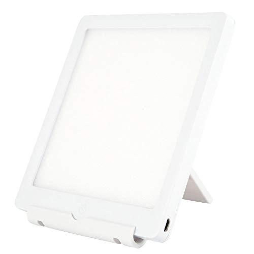 Lámpara de terapia 10000 Lux, lámpara de luz diurna con 2 brillo ajustable, LED sin UV, control táctil para el hogar / oficina