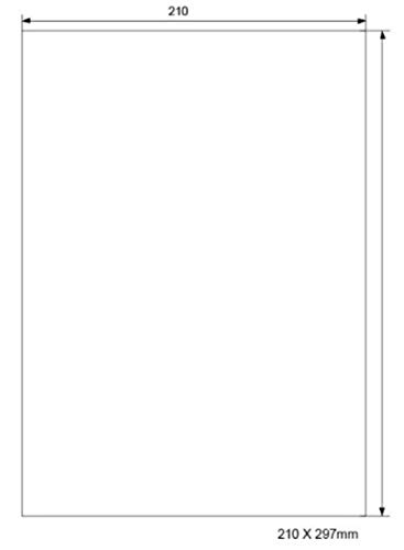 100 Blatt Universal Etiketten Aufkleber 210 x 297 mm Etiketten A4 Selbstklebend 100 Etiketten Aufkleber - Geeignet für Laser/Inkjet/Kopierer einsetzbar