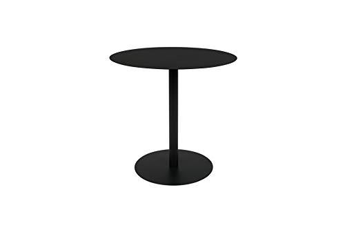 Zuiver Table d'appoint Snow Ronde Noire S   UNE Table sobre et distinguée