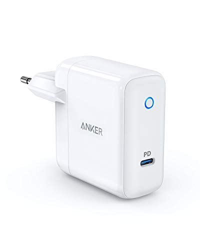 Anker PowerPort Speed 1 Caricabatterie da Parete USB Type-C con Power Delivery da 30 W, per HTC 10, Nexus 5X / 6P, LG G5, Pixel C, Samsung W700, MacBook 2015/2016, Mate Book, Moto Z e Altro