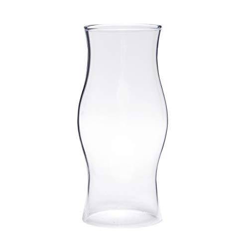 Varia Living Glaszylinder ohne Boden als Ersatzglas für Windlicht oder Wandlampe Durchmesser 9 cm | Glasrohr in der Form rund-bauchig 22 cm hoch (Ø 9 cm/H 22 cm)