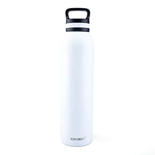 OKADI roestvrij stalen waterfles Thermos - houden koud of warm - Dubbelwandige vacuüm isolatietechnologie, Sport ontwerp, BPA-vrij, 22oz, 25oz, 29oz