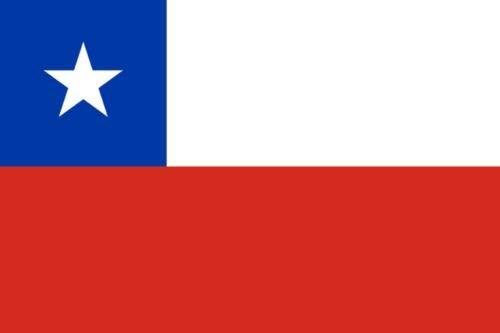 Gran Bandera de Chile 150 x 90 cm América del Sur Flag Durabol.