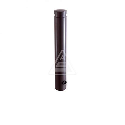 Aluminium-Poller Mit Ziernut Anthrazit-Grau - Herausnehmbar, Mit Dreikantverschluss - Ø 120 mm, 75 cm Höhe