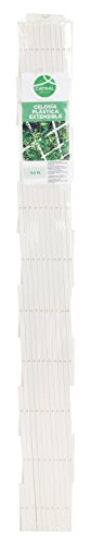 Catral 43060004 - Celosía deco PVC extensible, 1.0 x 200 x 100 cm, color blanco