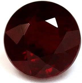 Brand new GemsNY Ranking TOP18 0.92 Carat Natural Ruby Round