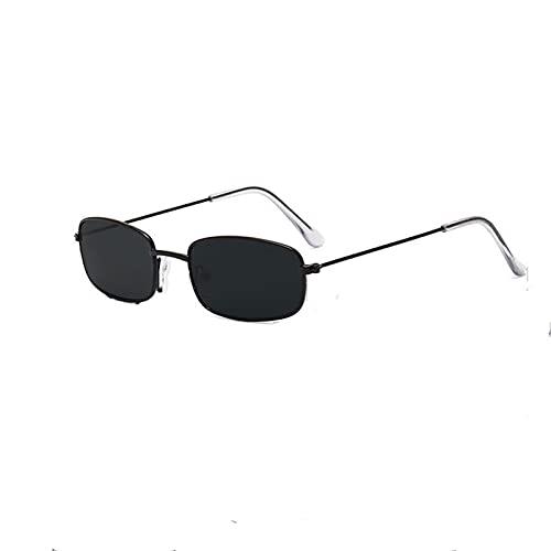 GAOTIAN Gafas de Sol Gafas de Sol de Marco pequeño de Metal, Gafas de Sol de película de océano, fotografía Retro de la Calle Hombres y Mujeres Tendencia Retro Gafas