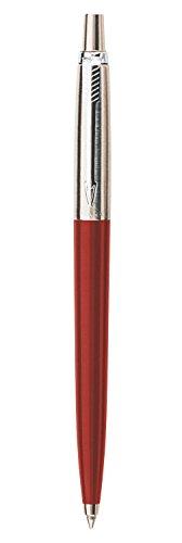 Parker Jotter - Bolígrafo (punta mediana), color rojo cromado
