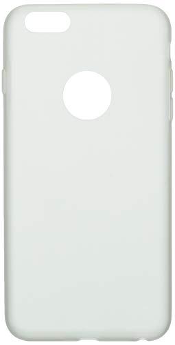 Shot Case Carcasa de Silicona para iPhone 6/6S Plus, Color Mate, Ultra Fina, protección de Gel Flexible, Color Blanco