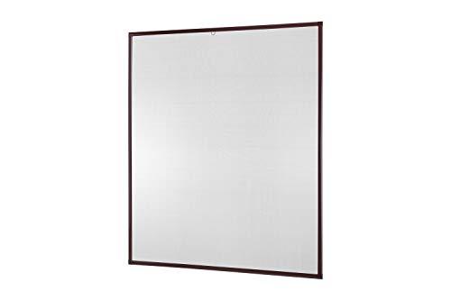 empasa Insektenschutz Fenster Basic 120 x 140 cm mit Alurahmen in Weiß, Braun und Anthrazit, Fliegengitter als Bausatz, auf Maß geschnitten oder komplett aufgebaut
