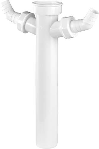 Cornat Verstellrohr - 1 1/2 Zoll x 40 mm - 250 mm Länge - Mit zwei Geräteanschlüssen - Hergestellt aus robustem Kunststoff - Made in Germany Qualität / Siphon-Tauchrohr / T356204