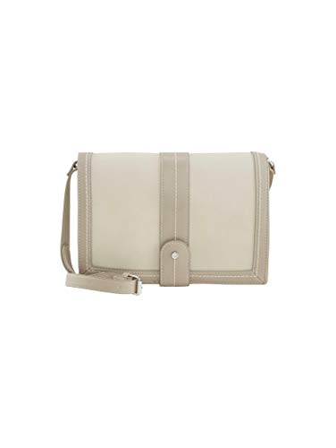TOM TAILOR Damen Taschen & Geldbörsen Überschlagtasche Imperia Off White/Off White,OneSize