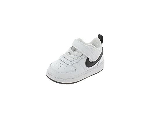 Nike Court Borough Low 2 (TDV), Sneaker, Blanco/Negro, 25 EU