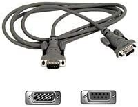 Belkin Serial Extension Cable with Thumbscrews (6 Feet, DB9M to DB9F)