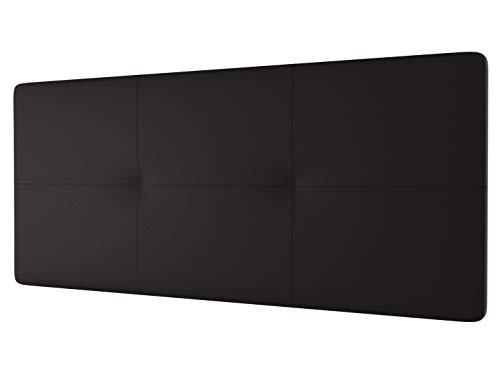 LA WEB DEL COLCHON - Cabecero tapizado Andrea para Cama de 90 (100 x 70 cms) Chocolate