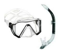 Mares i3 Tauchermaske Einglas mit Mares Sailor Schnorchelset (schwarz-weiß)