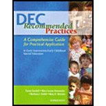 DEC Recommended Practices : A Comprehensive Guide for Practical Application in Early Intervention/Early Childhood...